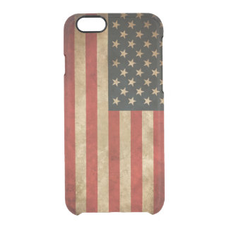 Modelo los E.E.U.U. de la bandera americana del Funda Clearly™ Deflector Para iPhone 6 De Uncommon