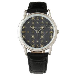Modelo mágico de los símbolos reloj de pulsera