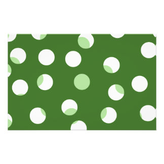 Modelo manchado verde y blanco tarjetón
