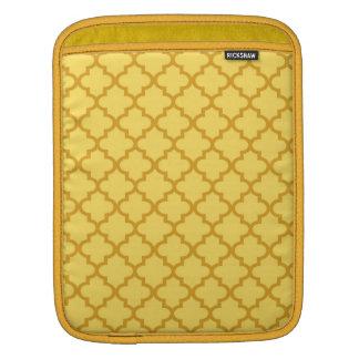 Modelo marroquí de la teja del amarillo de la most fundas para iPads