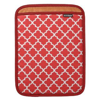 Modelo marroquí de la teja del rojo de ladrillo de manga de iPad