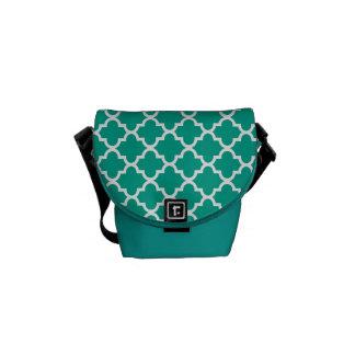 Modelo marroquí de la teja del verde esmeralda de  bolsa de mensajería