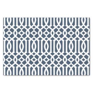 Modelo marroquí del enrejado de los azules marinos papel de seda