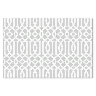 Modelo marroquí gris claro moderno del enrejado papel de seda