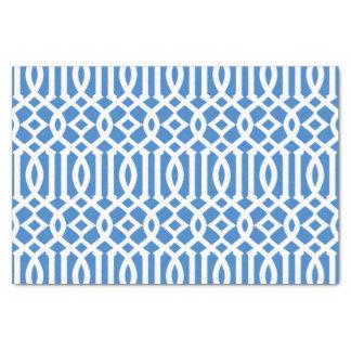 Modelo marroquí moderno del enrejado del azul real papel de seda