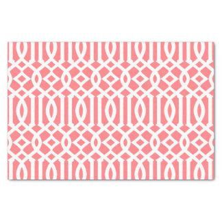 Modelo marroquí rosado coralino moderno del papel de seda