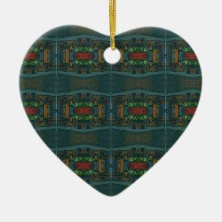 Modelo masculino profundamente caliente adorno navideño de cerámica en forma de corazón