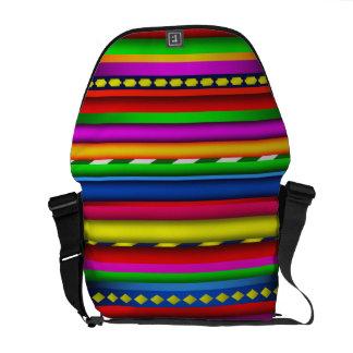 Modelo maya azteca multicolor colorido de los bolsa de mensajeria