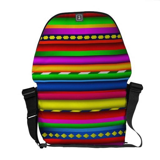Modelo maya azteca multicolor colorido de los bolsas de mensajeria