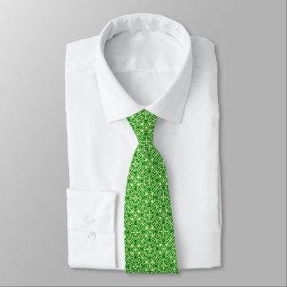 Modelo medieval del damasco, verde oscuro del pino corbatas