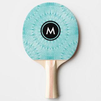 Modelo metálico de la mandala de la turquesa pala de ping pong