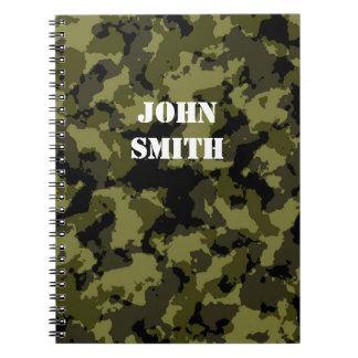 Modelo militar del estilo del camuflaje cuaderno