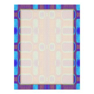 Modelo moderno abstracto Brown púrpura azul Folleto 21,6 X 28 Cm