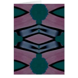 Modelo moderno artístico magenta azul tarjeta de felicitación