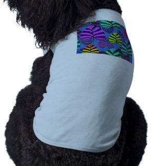 Modelo moderno brillante 437 de la hoja camiseta sin mangas para perro