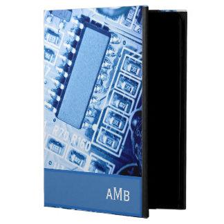 Modelo moderno de la placa madre en colores azules funda para iPad air