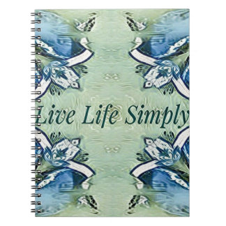 Modelo moderno de la vida positiva artística del cuaderno