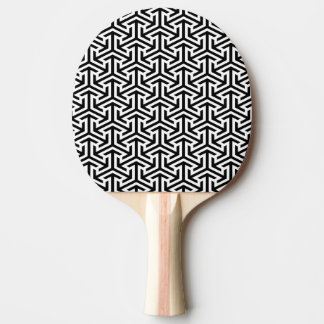 modelo moderno geométrico blanco y negro pala de ping pong