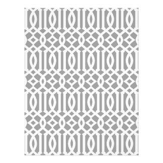 Modelo moderno gris y blanco del enrejado folleto 21,6 x 28 cm
