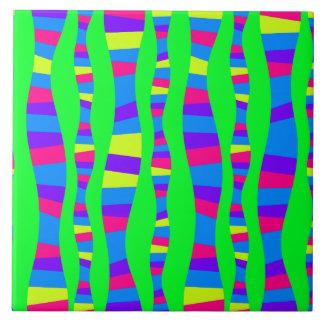 modelo moderno retro de los colores de nen azulejo cuadrado grande
