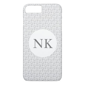 modelo moderno simple blanco y negro funda iPhone 7 plus