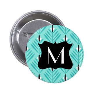 Modelo moderno y elegante con el monograma chapa redonda 5 cm