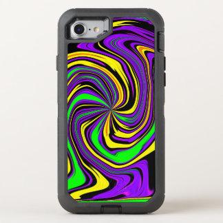 Modelo mojado psicodélico enrrollado Far-out del Funda OtterBox Defender Para iPhone 8/7