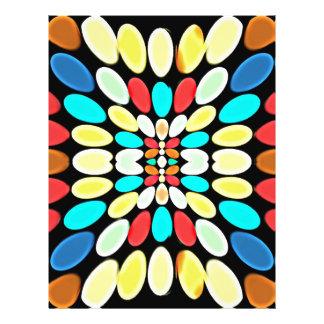 Modelo multicolor abstracto de los pétalos tarjetas informativas