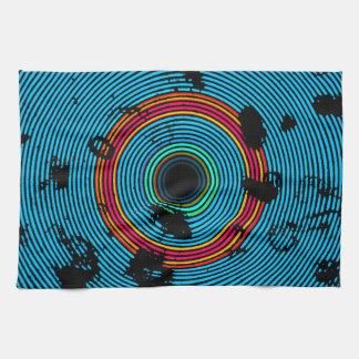 Modelo multicolor azul de la textura del disco del paño de cocina