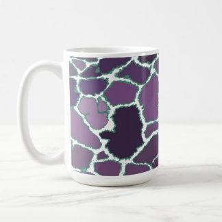 Modelo multicolor de la piel de la jirafa taza de café