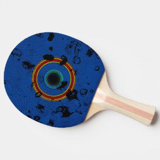 Modelo multicolor de la textura del disco del pala de ping pong
