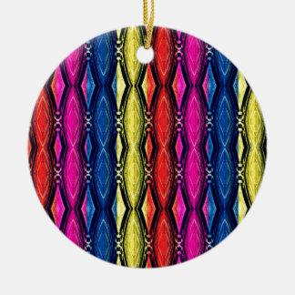Modelo multicolor de las cadenas. Diseño artístico Adorno Redondo De Cerámica