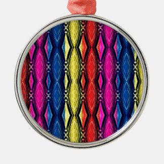 Modelo multicolor de las cadenas. Diseño artístico Adorno Navideño Redondo De Metal