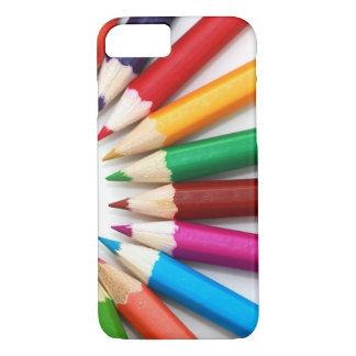 Modelo multicolor hermoso del lápiz del color funda iPhone 7