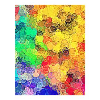 Modelo multicolor retro de los círculos flyer personalizado
