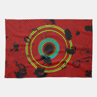 Modelo multicolor rojo de la textura del disco del paño de cocina
