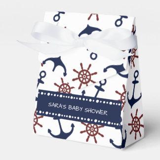 Modelo náutico del timón del ancla de los azules caja para regalos