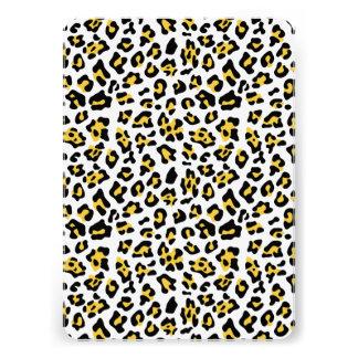 Modelo negro amarillo del estampado de animales de comunicado personalizado