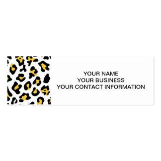Modelo negro amarillo del estampado de animales de tarjeta personal
