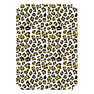 Modelo negro amarillo del estampado de animales