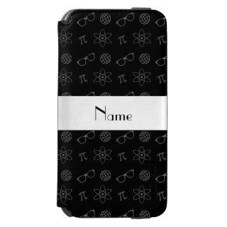 Modelo negro conocido personalizado del friki funda cartera para iPhone 6 watson