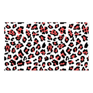 Modelo negro coralino del estampado de animales de tarjetas de visita