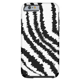 Modelo negro de la cebra funda para iPhone 6 tough
