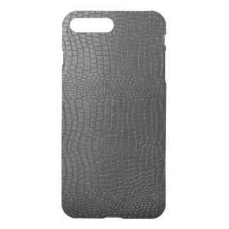 Modelo negro de la mirada de la piel de serpiente funda para iPhone 7 plus