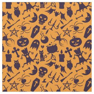 Modelo negro de los elementos de Halloween Telas