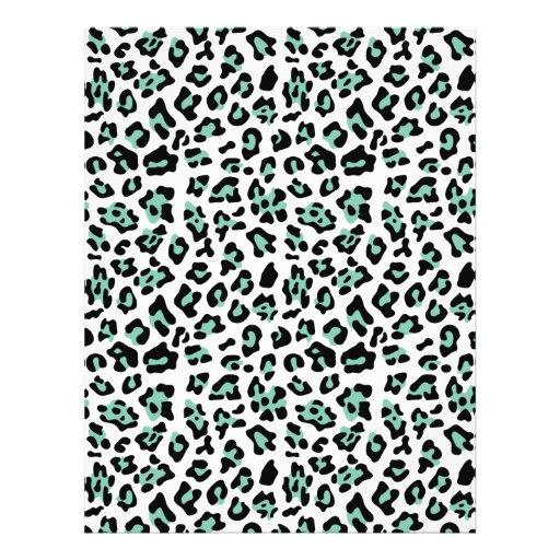 Modelo negro del estampado de animales del leopard tarjeton