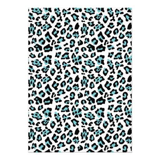 Modelo negro del estampado de animales del leopard anuncios personalizados