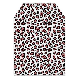 Modelo negro del estampado de animales del leopard comunicado personal
