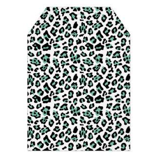 Modelo negro del estampado de animales del leopard comunicados personalizados