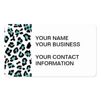 Modelo negro del estampado de animales del leopard plantillas de tarjetas de visita